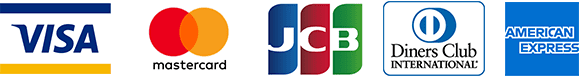 VISA / Mastercard / JCB / Diners Club / AMERICAN EXPRESSが使用可能です。