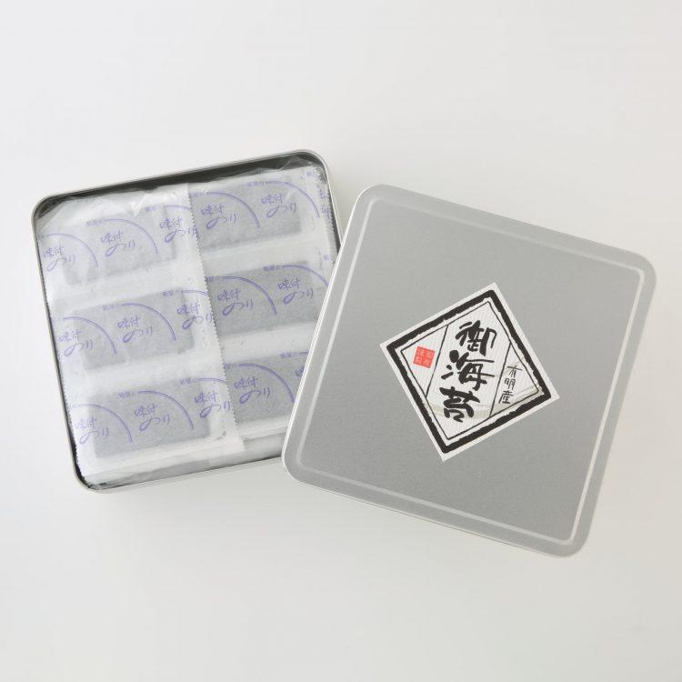 お徳用!有明産 味付海苔 8切100束缶入-01